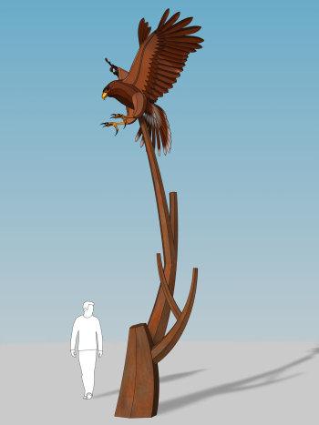 El Paso Hawk Sculpture